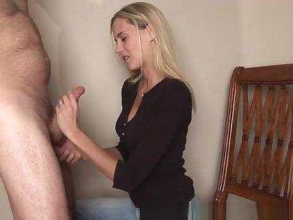 Cheating Wife Sucks Cock takes massive face full of cum!