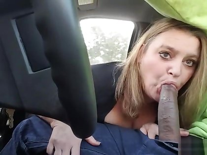 (POV) Police Almost Caught Us BBC Getting Sucked Off While Driving