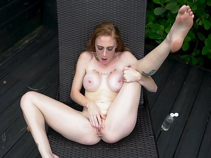 Comely matchless nudity and masturbation at the end of one's tether GInger Babbii