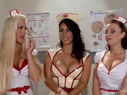 Pornstar nurses with Britney Amber having lovely lesbian triune