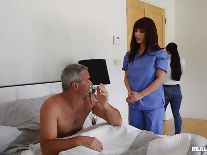 Hot nurse b like treats patient approximately suitable pussy