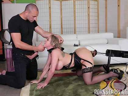 Submissive giant breasted MILF Dee Williams rides cock really crazy