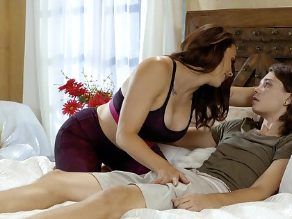 Passionate mom wants the step son's dick to in times past their way wet cunt