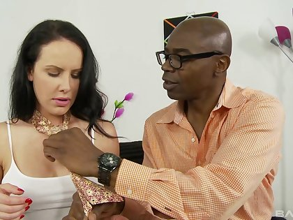 Unclad brunette unfathomable cavity fucked by a nefarious man with endless dick