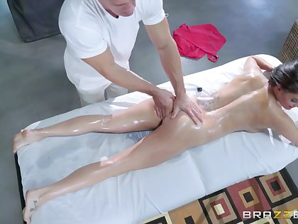 Peta Jensen is automated by a round of erotic massage intercourse