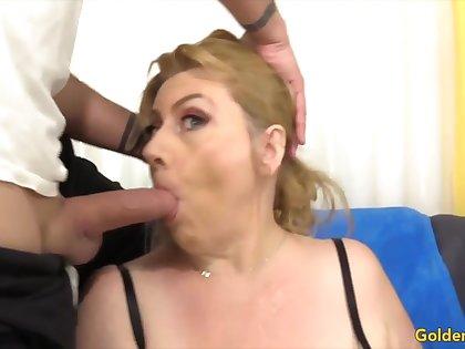 Golden Slut - Mature Girlfriends Giving Admirer Compilation