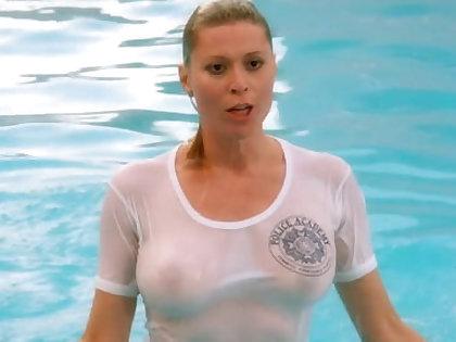 Nude Celebrities in Wet T- Shirts
