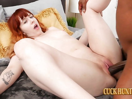 Redhead Teen Hannah Grow Takes Heavy Black Dick Creampie