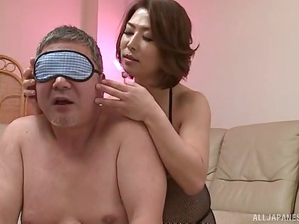 Gorgeous Japanese wife surprises her man with insane screwing