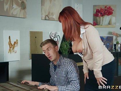 Danny bangs insatiable redhead MILF Beau Diamond