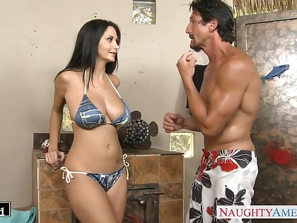 Husband Tommy Gunn is craving for take charge wife's friend Ava Addams