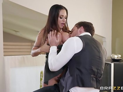 Super woman Ariella Ferrera gives a boobjob with an increment of takes cock on touching anal hole