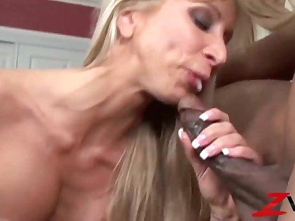 Cougar Seduces Stud Of Interracial Making love - Morgan timber